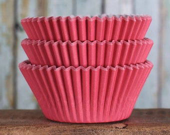 Red Cupcake Liners, BakeBright Cupcake Liners, Red Baking Cups, Holiday Cupcake Cases, Red Paper Liners, Christmas Cupcake Wrappers (60)