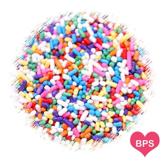 Rainbow Jimmies Sprinkles Edible Sprinkles Rainbow