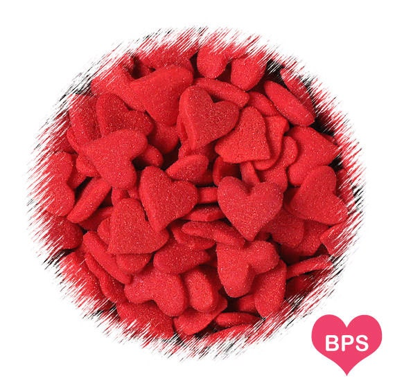 Jumbo Red Heart Sprinkles, Valentine's Heart Sugar Shapes, Heart Cupcake Toppings, Christmas Red Heart Sprinkles, Valentine's Sprinkles