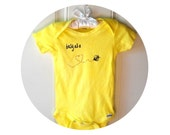 Honey Bee Baby Bodysuit, Cotton Infant Creeper, One Piece Snapsuit, Lemon Yellow, Busy as a Bee, Unisex Baby Clothing, Sweet infant snapsuit