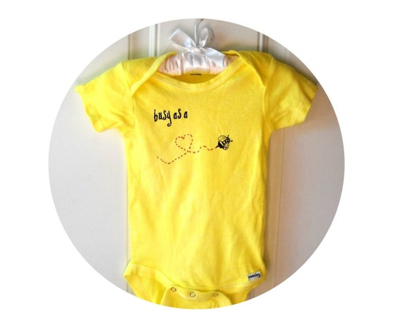Items similar to Honey Bee Baby Bodysuit Cotton Infant