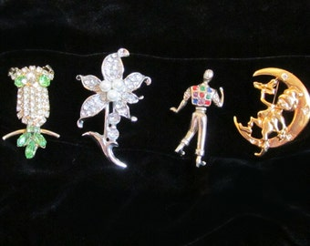 Four Interesting Vintage Pins