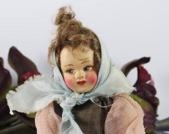 Vintage Italian Felt Doll
