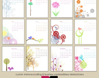 2017 Desk Calendar - Mod and Retro Designs with Clear Case