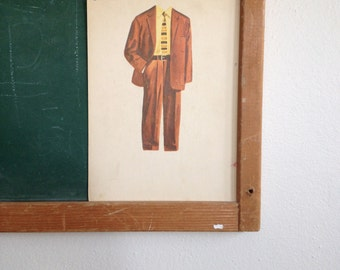 Vintage School Flashcard- Suit