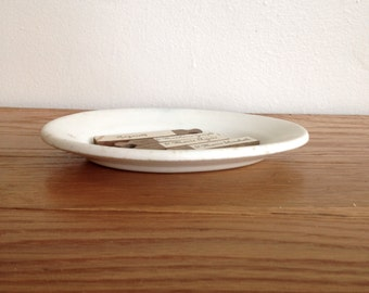 Hotel Ironstone Oval Ironstone Platter or Soap Dish