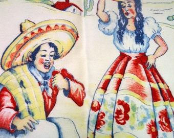 Mid Century Southwestern Tea Towel