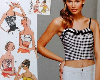 Crop Top Sewing Pattern UNCUT Simplicity 8130 Sizes 4-12