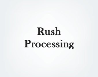 RUSH PROCESSING- ships via regular first class mail within 1-2 business days , please make sure shipping address and items are correct