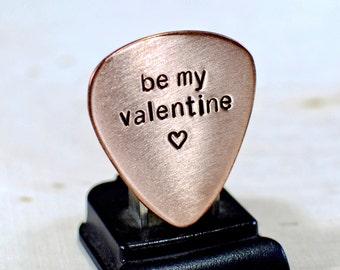 Be my Valentine Copper Guitar Pick - GP719