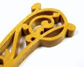 Letter Opener / Exotic Yellow Heart Wood