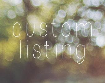 Custom Listing for Carla Mingus