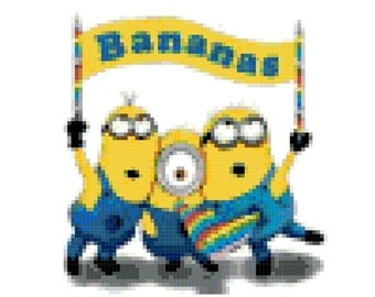 Minions Cross Stitch Pattern ( Printable PDF ) - Immediate Download from Etsy