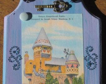 Hamburg NJ Gingerbread Castle OOAK Wood Plaque New Wall Hanging