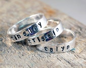 Personalized Stackable Ring, Personalized Stacking Rings, Personalized Stackable Mothers Ring, Personalized Name Ring, Custom Stacking Ring