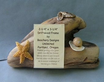 Driftwood Picture Frame With Shells-DF82