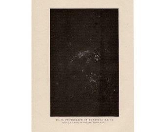 1893 nebulae major original antique celestial astronomy print