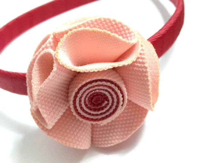 Scarlet Rose Hair Flower Headband