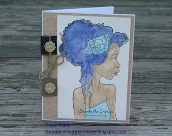Encouragement Cards , FINAL CLEARANCE, Inspirational Cards, Strength Cards, Become the Woman You Dream of Being