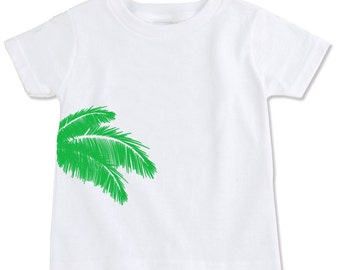 Palm Tree Fronds Organic Cotton Toddler Tee