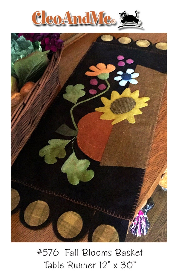 Fall Blooms Basket Penny Rug Pattern