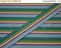 "30% OFF 7/8"" BLUE White GREEN Purple Stripe South Seas Grosgrain Ribbon Woven Reversible Usa Hair Bows Key Fob Ribbon by the Yard  Fabric Sc"