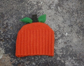 Upcycled Wool Sweater Pumpkin Hat