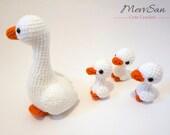 Crochet PATTERN PDF - Amigurumi Goose - crochet goose, bird amigurumi plush, crochet animal, amigurumi toy, bird softie, ugly duckling