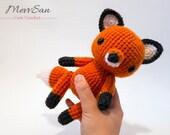 MADE to ORDER - Amigurumi Woodland Critter Fox - crochet animal plush, amigurumi fox toy, red fox plush, cute crochet fox doll