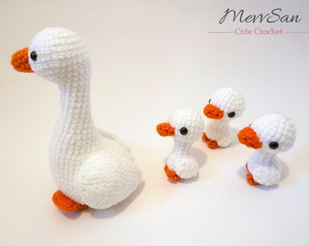 Crochet PATTERN PDF - Amigurumi Goose - crochet goose, bird amigurumi plush, crochet animal, amigurumi toy, bird softie, ugly duckling