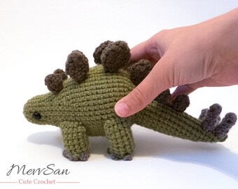 MADE to ORDER - Amigurumi Stegosaurus Dinosaur - cute amigurumi dinosaur, prehistoric crochet dinosaur softie, amigurumi dinosaur toy