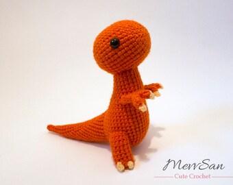 Crochet PATTERN - Amigurumi Tyrannosaurus Rex Dinosaur - t rex amigurumi dinosaur pattern, crochet dinosaur, amigurumi dinosaur toy, softie