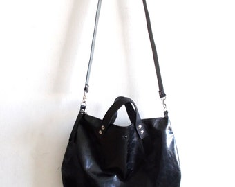 Black leather bag  Handbag - Cross-body bag