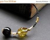 VALENTINE SALE Amber Handmade Beaded Bookmark - Honeycomb. Handmade.