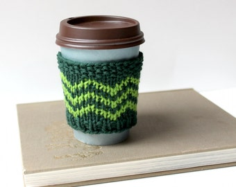 Wool Coffee Cozy, Knit Coffee Sleeve, Coffee Cozy Gift, Reusable Drink Cozy, Coffee Cup Cover, Knit Coffee Sweater, Knit Cup Warmer, Cosy