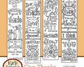 40% OFF GIVE THANKS Color Your Own Thanksgiving Bible Journaling Bookmarks Illustrated Faith Instant Download Scripture Digital Printable Ch