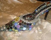 MOSAIC SHOE - Glass Slipper,  Party Shoe, Home Decor, Office Decor