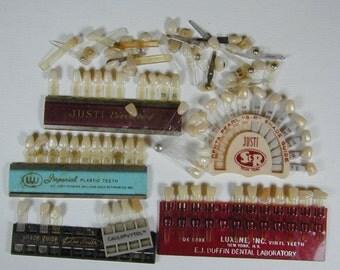 FREE SHIPPING Vintage Dental Tooth Color Match Sets Teeth Porcelain False Denture Matcher Tool