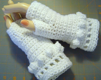 Fingerless Gloves Womens Bobble Winter Fashion by CarussDesignZ W0070