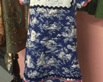 SALE Little Girl's Toile dress