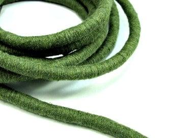 Khaki cotton cord, thick wrapped cord, 1m