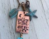 Starfish - starfish story - custom necklace - beach jewelry - teacher gift idea - adoption necklace