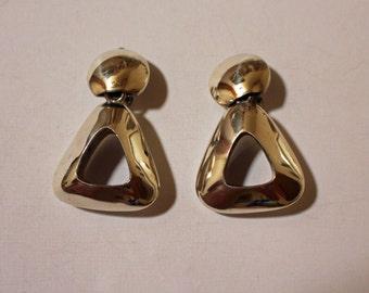 Silver Taxco Earrings Brenda Schoenfeld
