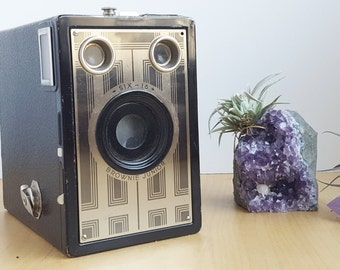 Vintage Camera, Working Junior Six-16 Box, Art Deco Gem, Larger Box Camera, Excellent For Display, Use, Collection