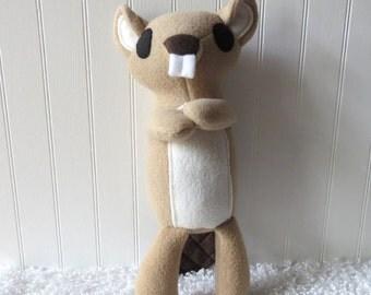 Little Beaver Plush, Beaver Toy, Woodland Plush