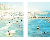 "Two Large Square Format Prints - ""Coney Island Peeps Dips"""