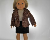 18 inch doll clothes, 3 piece outfit, Top, Blazer and Corduroy Skirt, Made to fit 18 inch dolls such as American Girl, 09-0502