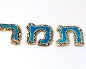 Reserved for Adriane - Hebrew alphabet Hebrew letters Ceramic letters Ceramic alphabet Personalized Hebrew letters Hebrew name
