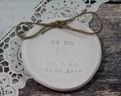 Ring bearer pillow alternative, Ring pillow alternative,  Wedding ring bearer We Do Ring dish Wedding ring plate