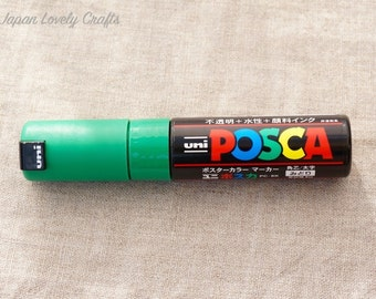 Uni Posca Drawing Marker Bold Pen, Green, PC-8K, Art Supply, Poster, Illustration, Surfboard Painting, Made in Japan, Mitsubishi PC8K 6